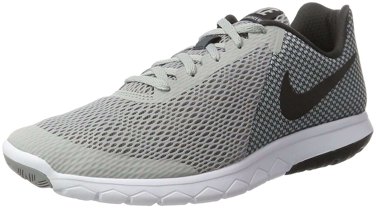 Nike Men Wolf Grey Black MESH RUNNING SHOE