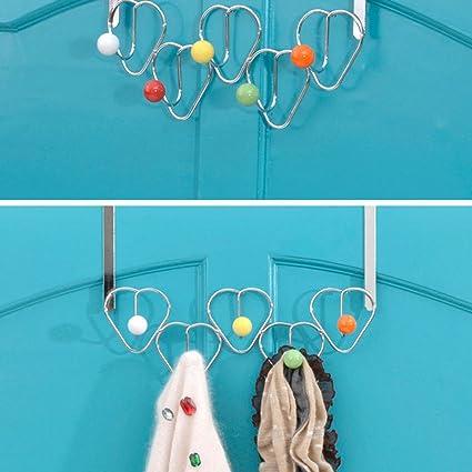 Chenxi tienda 5 ganchos cromo Multi Color bolas para encima ...