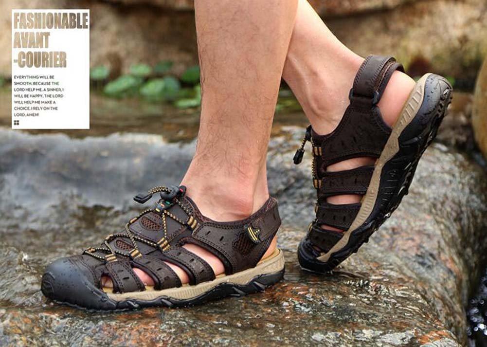Herren Sandalen Outdoor Casual Braun/Grün/Gelb Schuhe Mode Joker Sandalen Braun/Grün/Gelb Casual Größe 38-48 Outdoor Braun 56bef8