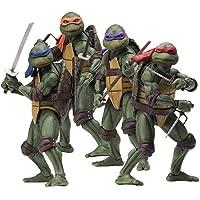 TMNT - Teenage Mutant Ninja Turtles - NECA complete set schaal personages actiefiguur originele film uit de jaren 90