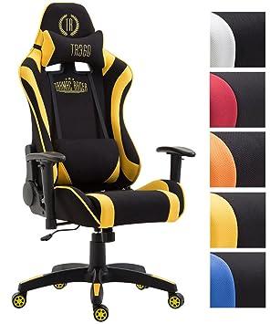 CLP Silla de Oficina Jarama en Tela I Silla Gaming Ergonómica I Silla Racing con 2
