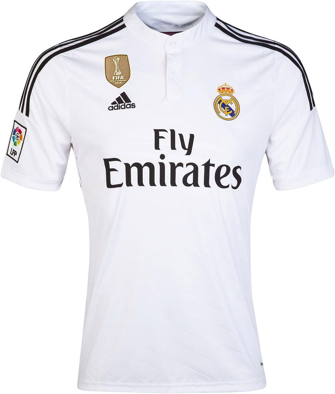 adidas Real Madrid Home Jersey 2014 FIFA World Champions de balón de fútbol Camiseta: Amazon.es: Deportes y aire libre
