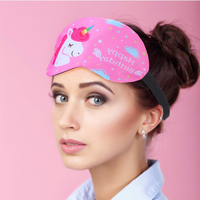 Eccoo House Unicorn Sleeping Mask 5pcs Soft Lightweight Blindfold Eye Cover for Men Women Kids by Eccoo House (Image #6)