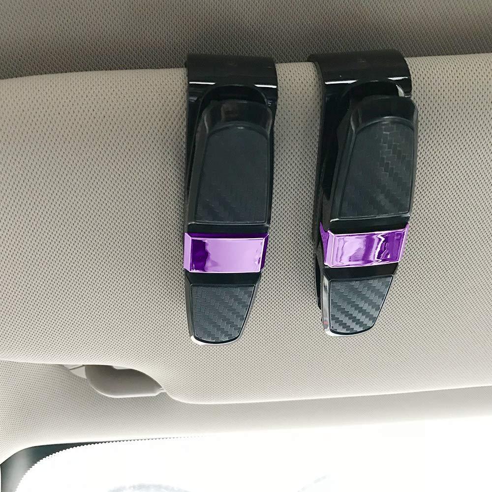 homEdge Clip per parasole supporto per montatura per occhiali con clip di carta dorata clip per occhiali da sole per auto confezione da 2 occhiali da sole per visiera parasole per auto