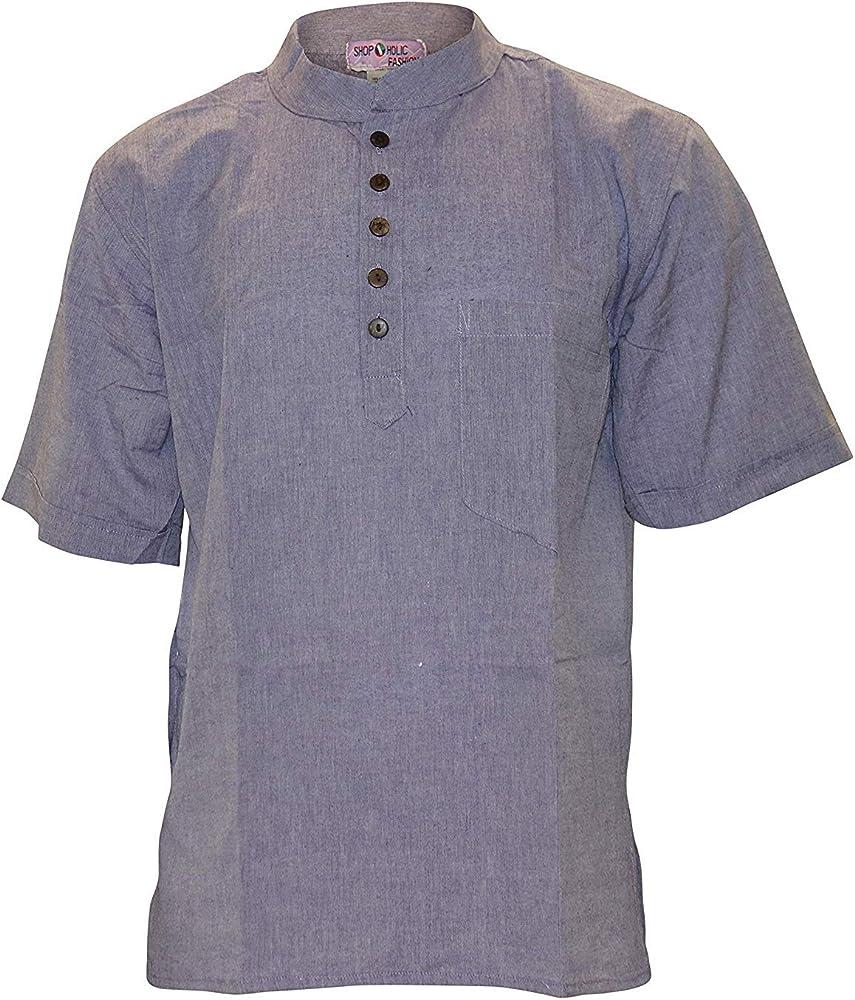 Camisas de verano Shopolic Fashion para hombre morado S: Amazon.es: Ropa y accesorios