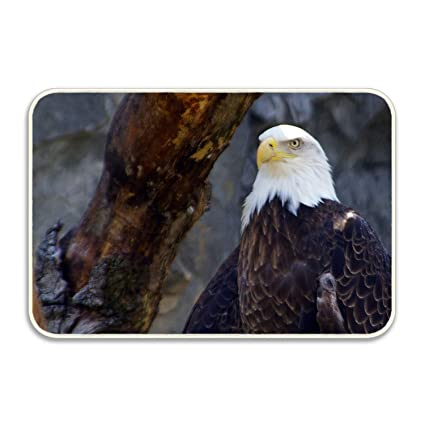 Niaocpwy Majestic Bald Eagle Non Slip Mat Entry Way Doormat For Patio,  Front Door
