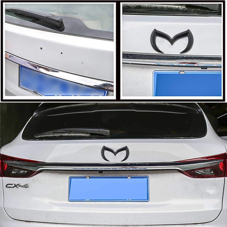 Xotic Tech Evil M Logo Badge Car Rear Trunk Metal Aluminum Emblem Decal Sticker for Mazda 1pcs Matte Black Xotic Tech Direct