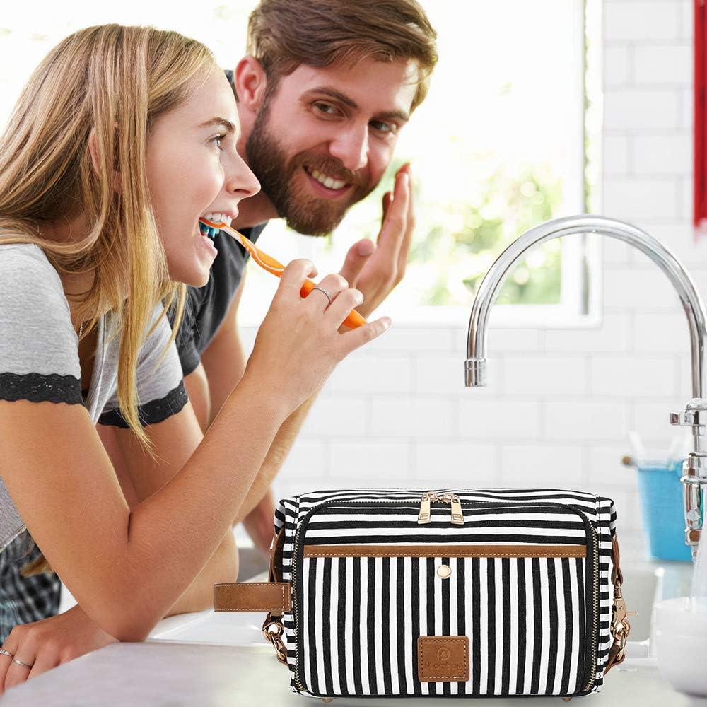 Plambag Trousse de Toilette Grande Capacit/é Sac de Rangement Organisateuer en Toile Imperm/éable Maquillage Cosm/étique Suspendu Sac de Voyage pour Homme Femme