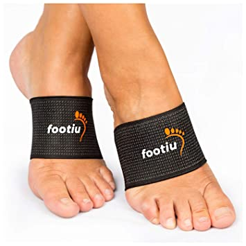 0e1febe74f FOOTIU Compression Copper Arch Support Brace - 2 Plantar Fasciitis Sleeves  for Pain Relief, Heel