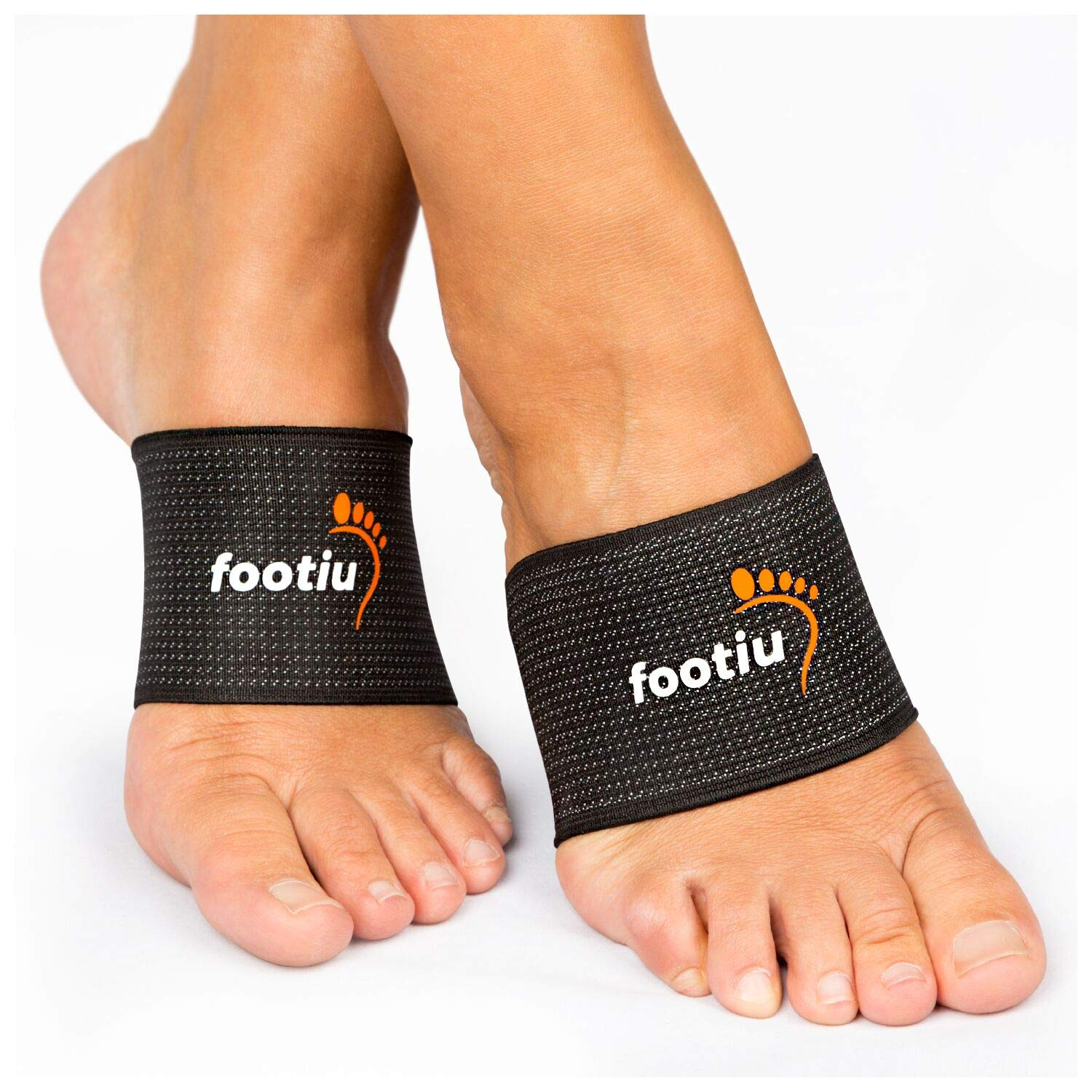 FOOTIU Compression Copper Arch Support Brace - 2 Plantar Fasciitis Sleeves For Pain Relief, Heel Spurs and Flat Feet + Gel Cushions Bonus by ATTICAN