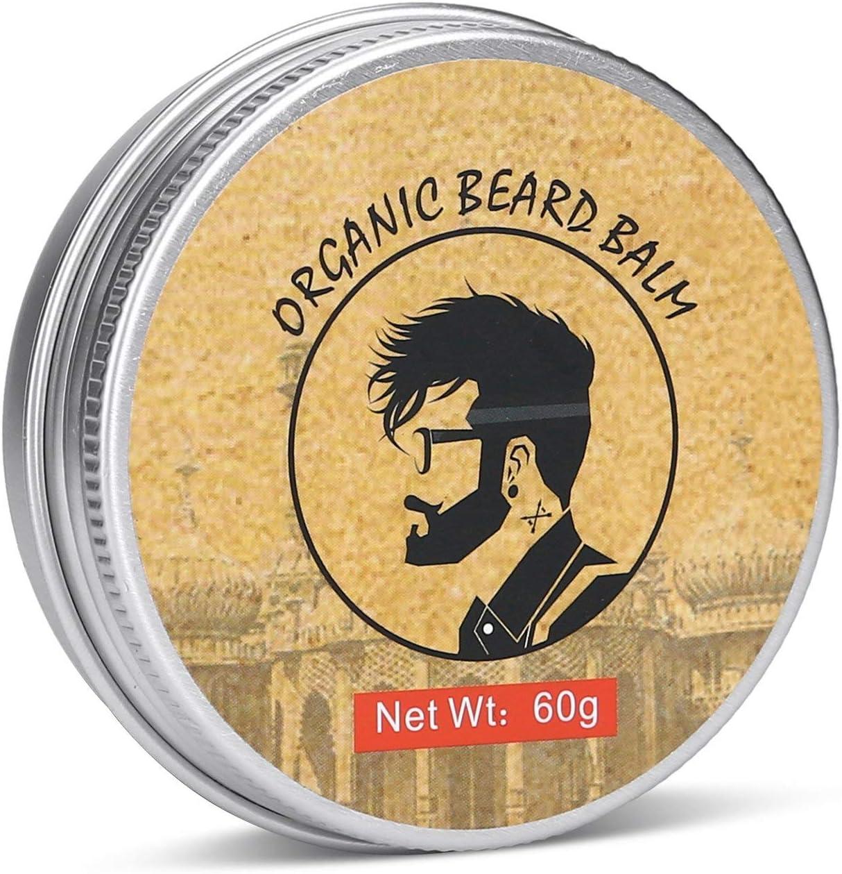HappyCoCo Aseo barba y bigote Balm- totalmente Natural Barba dejar-en Conditioner- orgánicos y naturales Oils- esencial Hidrata y humecta la barba y Piel- evita que la piel que pica y la caspa