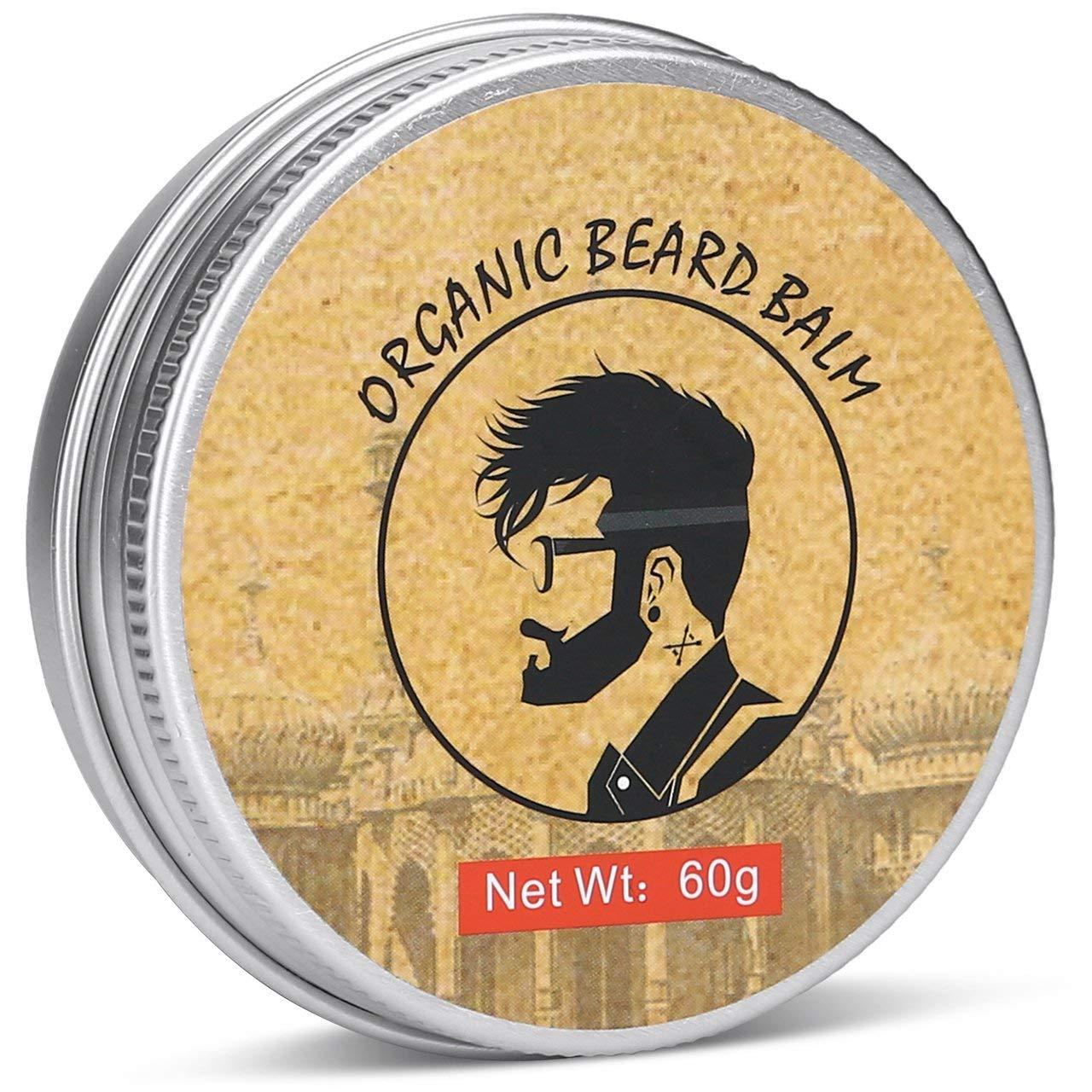 HappyCoCo Aseo barba y bigote Balm- totalmente Natural Barba dejar-en Conditioner- orgánicos y naturales Oils- esencial Hidrata y humecta la barba y Piel- evita que la piel que pica y la caspa Ocean
