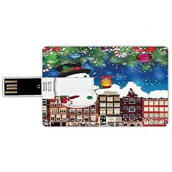 8GB Forma de tarjeta de crédito de unidades flash USB Navidad ...