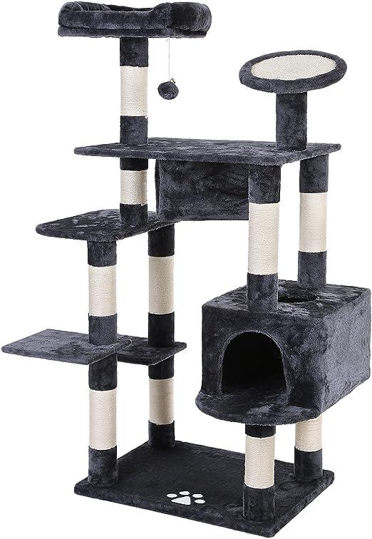 SONGMICS Feandrea - Poste para rascar Muebles de Gato (8,6 cm de diámetro, Color Gris Ahumado): Amazon.es: Productos para mascotas