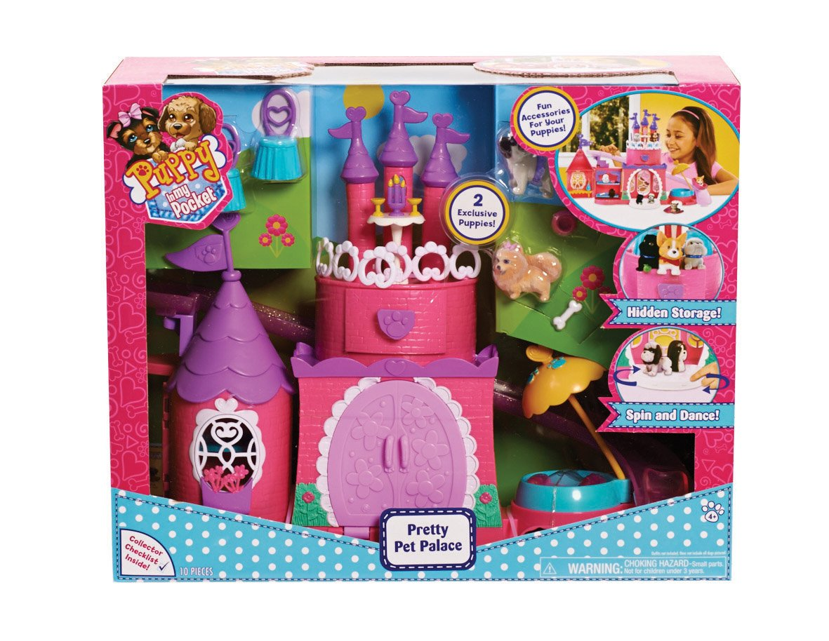 Amazoncom Puppy In My Pocket Pretty Pet Palace Playset Toys Games