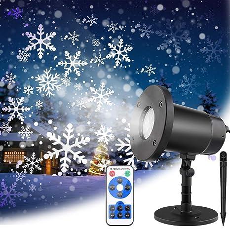Romantische Schneefall Lichteffekt f/ür Weihnachten Valentinstag Party Hochzeit Led Projektor Weihnachten Projektionslampe Weihnachten LED Schneeflocke Projektor lichter mit Timing Fernbedienung