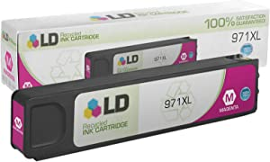 LD Remanufactured Ink Cartridge Replacements for HP 971XL CN627AM High Yield (Magenta)