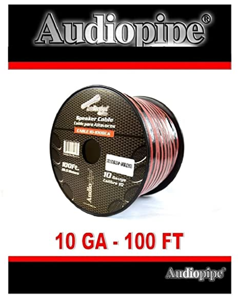 Amazon 100 ft 10 gauge awg red black stranded 2 conductor 100 ft 10 gauge awg red black stranded 2 conductor speaker wire car home audio keyboard keysfo Images