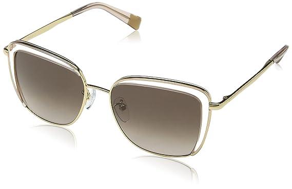 Furla Eyewear Damen Sonnenbrille, Transparent (Shiny Rose Gold), 45