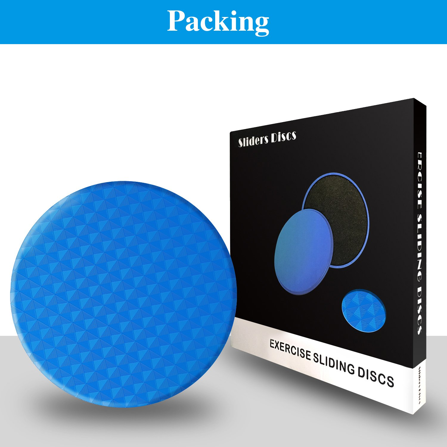 Paikelo Gliding discs, Double Sided Exercise Sliders, 2 Dual Sided Gliding Sliding Discs for Core Fitness, Gym, Carpet and Hardwood Floors Home Abdominal Exercise Equipment-Blue by CoobalPaikelo (Image #1)