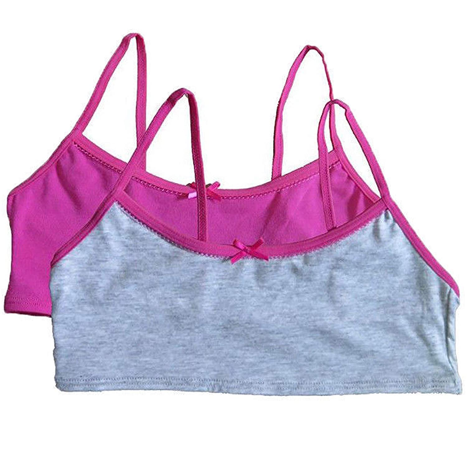f63a47f88ef Amazon.com: Hanes Girl's Crop Top Bralette, small: Clothing