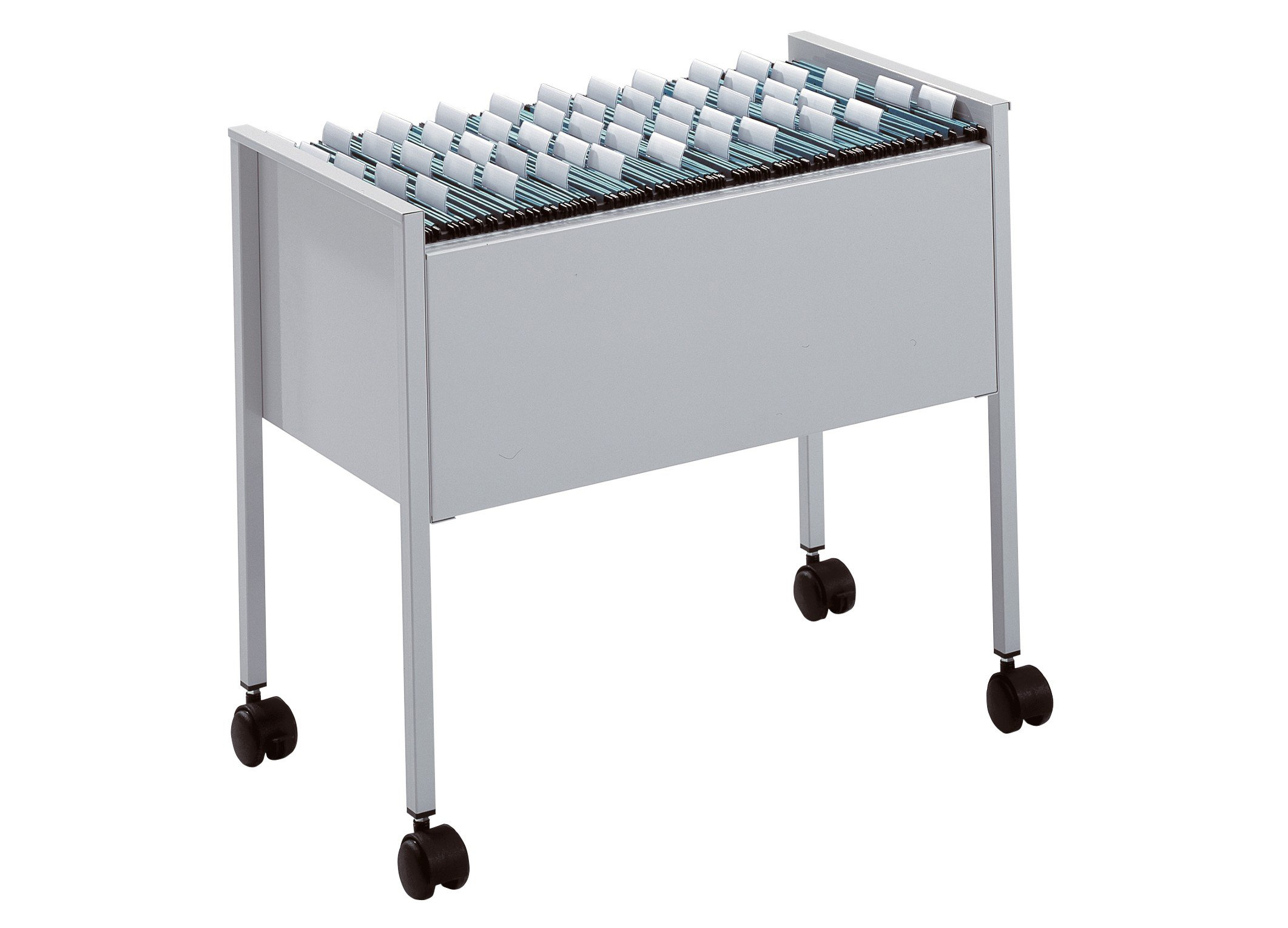 Durable Eco Suspension File Trolley For 80 A4 - Grey Black/Silver