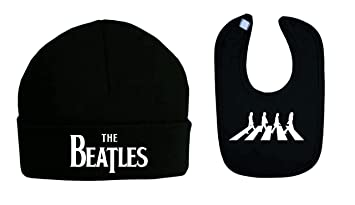 2bfbcb2cb8b Image Unavailable. Image not available for. Colour  The Beatles Baby BIB  and Beanie Hat Set ...
