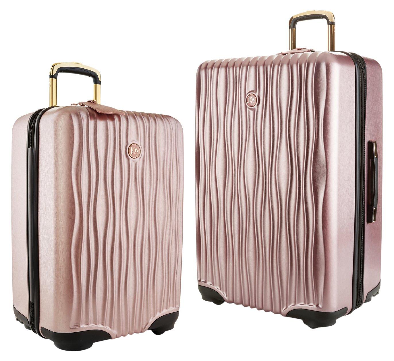 202f16ee190a Joy Mangano Hardside Medium Luggage (Carry-on) and Xl Luggage Combo, Rose  Quartz