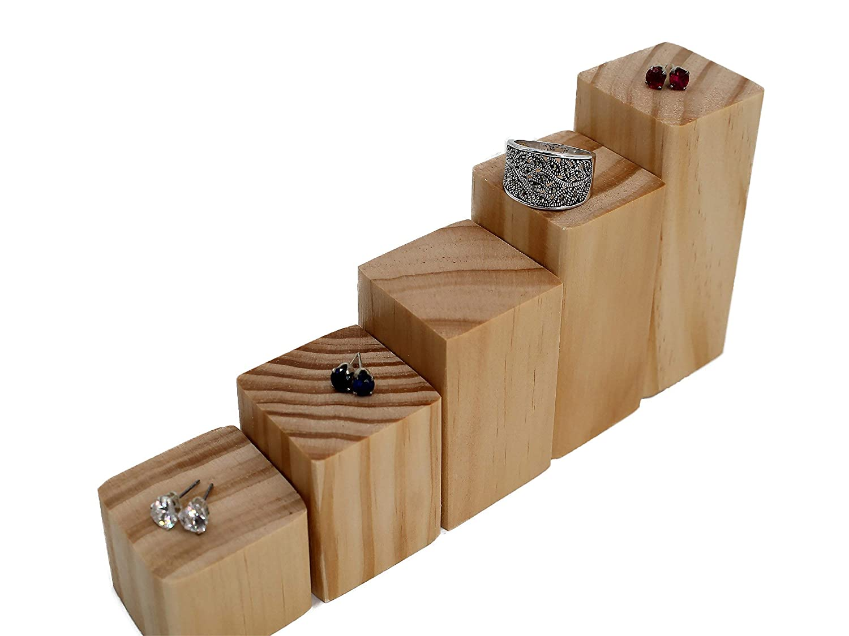 Display Riser/Ring Riser/Cuff Link Display/Step Riser/Wooden Risers