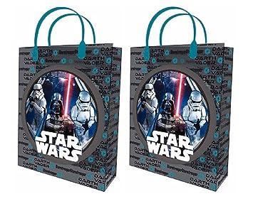 2 x Star Wars Tasche Handtasche Umschlag Geschenk aus Kunststoff transparent L 32 x 26 cm Gift Bag