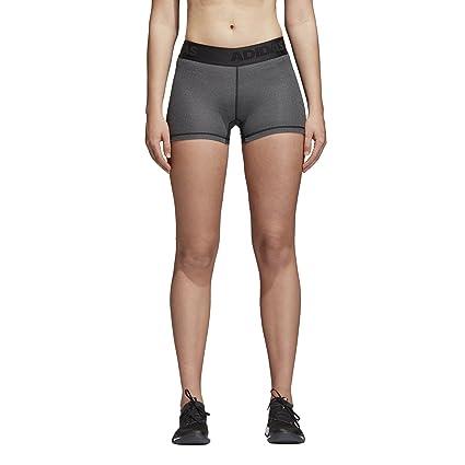wholesale dealer d5ce9 d5cd7 adidas Women s Training Alpha Skin 3 Inch Sport Tights, Dark Grey  Heather Black,