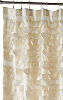 Triangle Home Fashions 16685 Lush Decor Gigi Shower Curtain Ivory