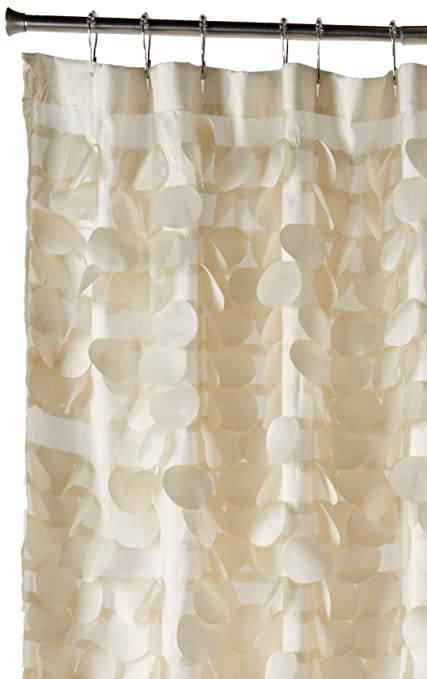Lush Decor Triangle Home Fashions 16685 Gigi Shower Curtain Ivory