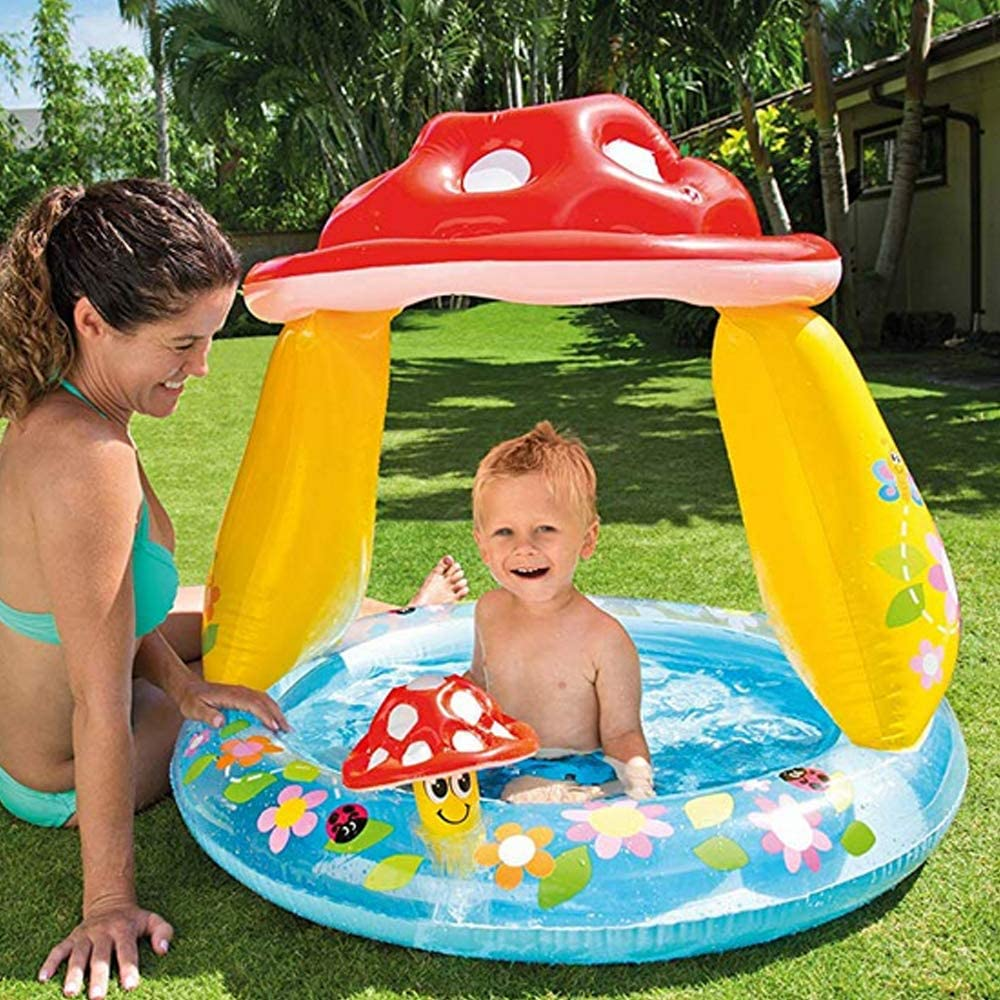 JINMM Piscina Bebe Hinchable Parasol,40x35cm Swimming Pool para ...