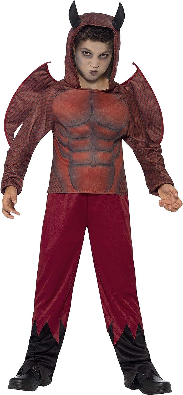 Smiffys - Disfraz diablo de lujo para niños (44295S): Amazon.es ...