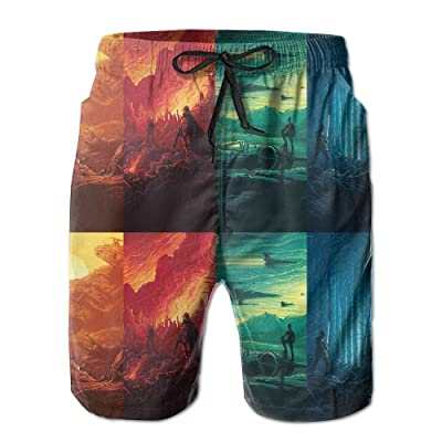 Alien Invasion of Earth Warfare Four SeasonsHandsome Fashion Summer Cool Shorts Swimming Trunks Beachwear Beach Shorts