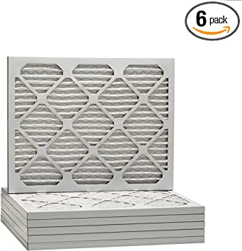 6 PACK 18x22x1 Merv 8 Pleated AC Furnace Air Filters