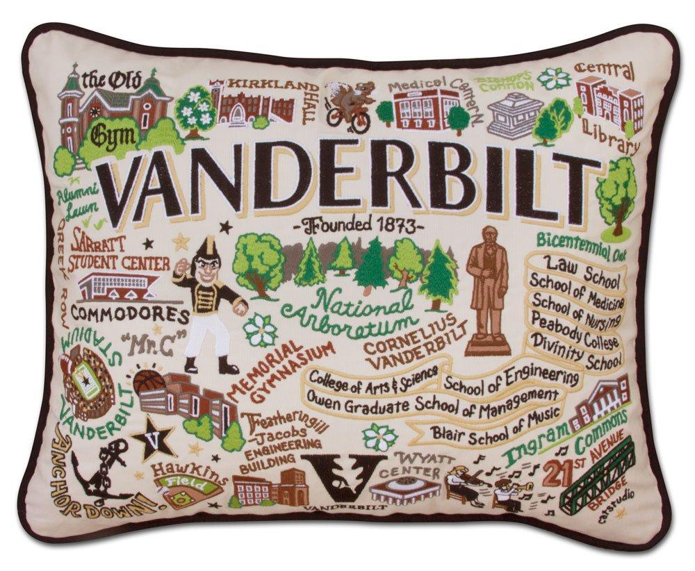 VANDERBILT UNIVERSITY COLLEGIATE EMBROIDERED PILLOW - CATSTUDIO
