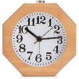 Baban sveglia /orologio in legno Octagon legno muto sveglia con una luce di notte Burlywood colore Sapele colori Burlywood