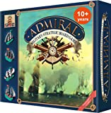 Admiral - Super Detailed Marine Battleship Board Game - Strategy Board Games for Kids 10 and up - Best 2 Player Board Games for Families
