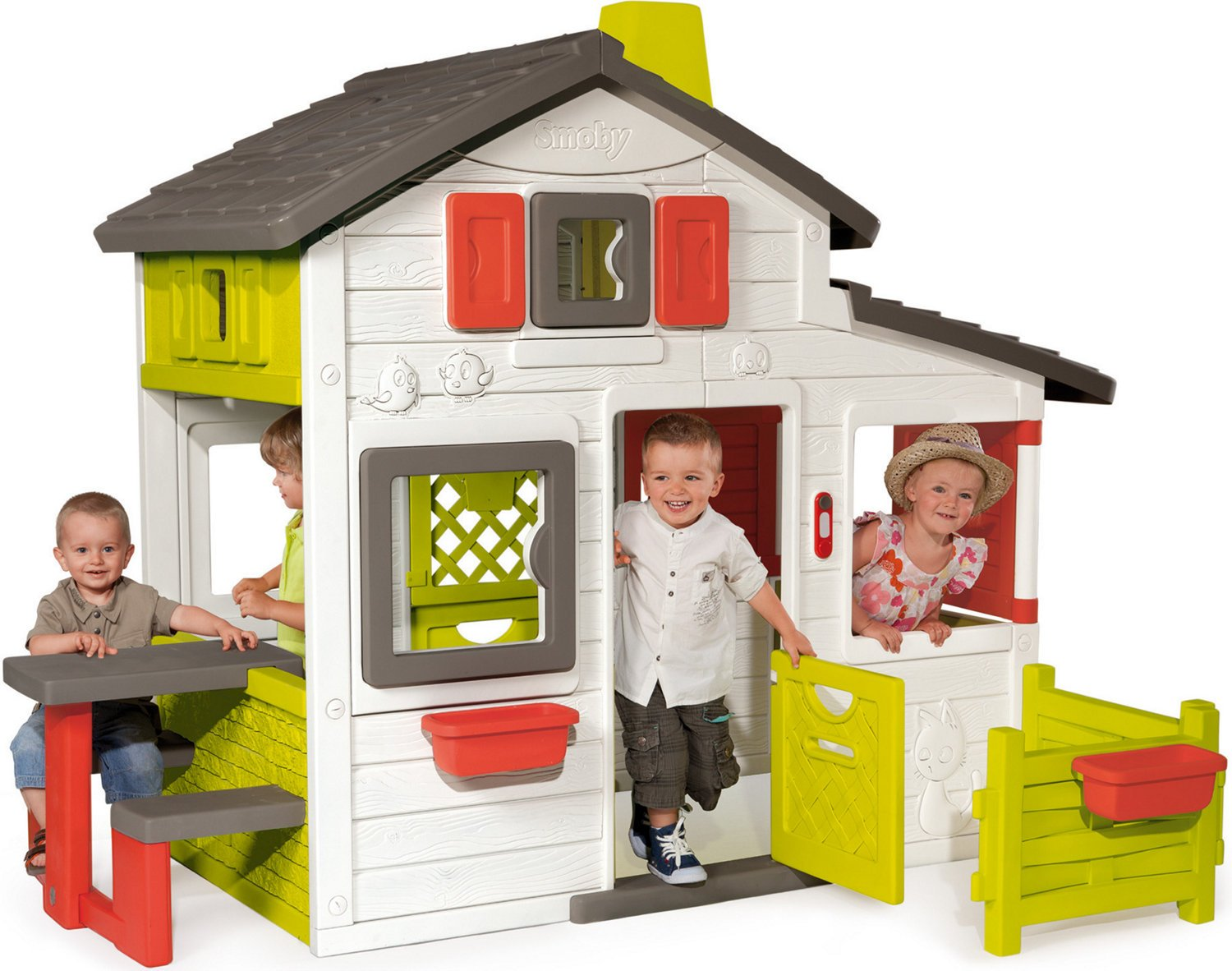 Smoby - Cabane enfant Friends House SMOBY: Amazon.fr: Bébés ...