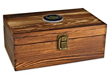 Wooden Cigar Humidor Box Cigar Humidifier Well Seal Design Cigar Storage Case Cigar Accessories