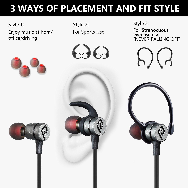 Auriculares Bluetooth Magnético, Parasom A1 Auriculares Bluetooth ...