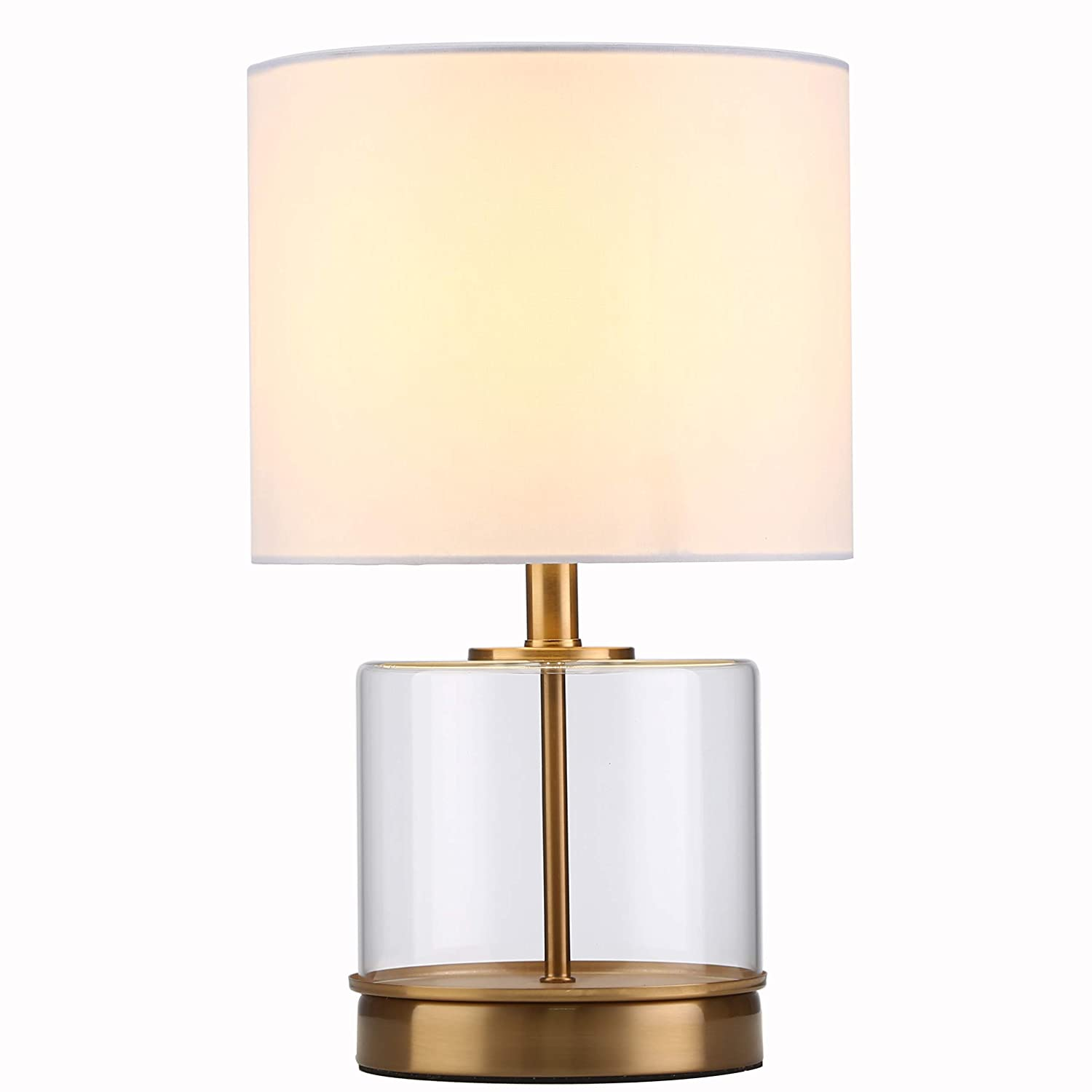 Tayanuc Contemporary Bedside Accent Glass Table Lamp with Gold Base, Table  Lamps for Bedroom Living Room