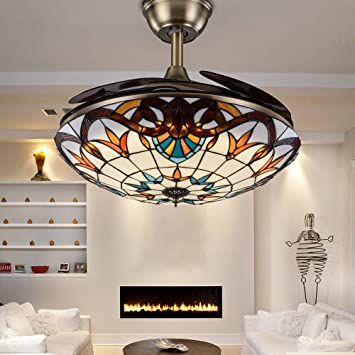 RS Lighting Mediterranean Style Light Fixture Ceiling Fans And Lights  42  Inch For Study Living