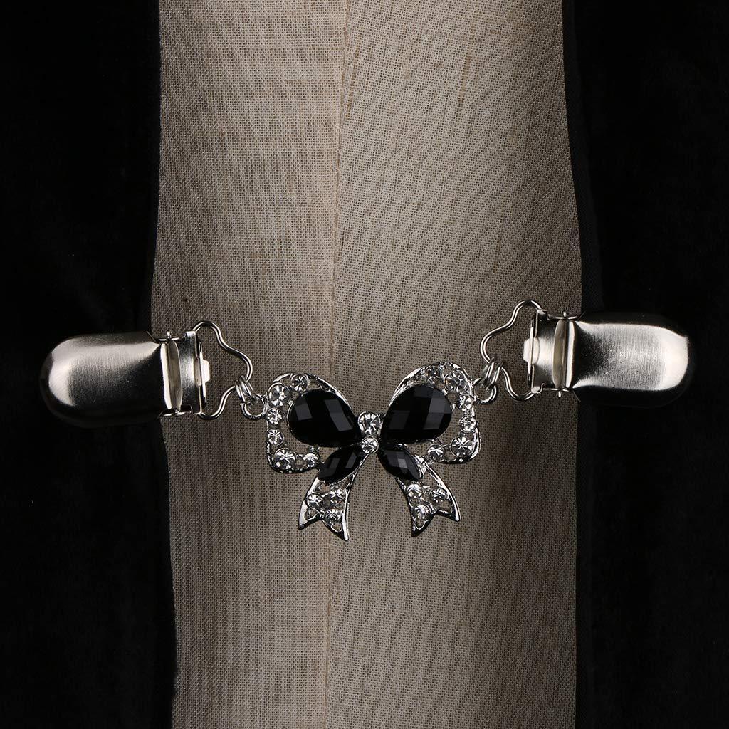 F Fityle Damen /Ärmelhalter Pullover Clip Strickjacke Cardigan Schal Metallclip Kragen Verschluss