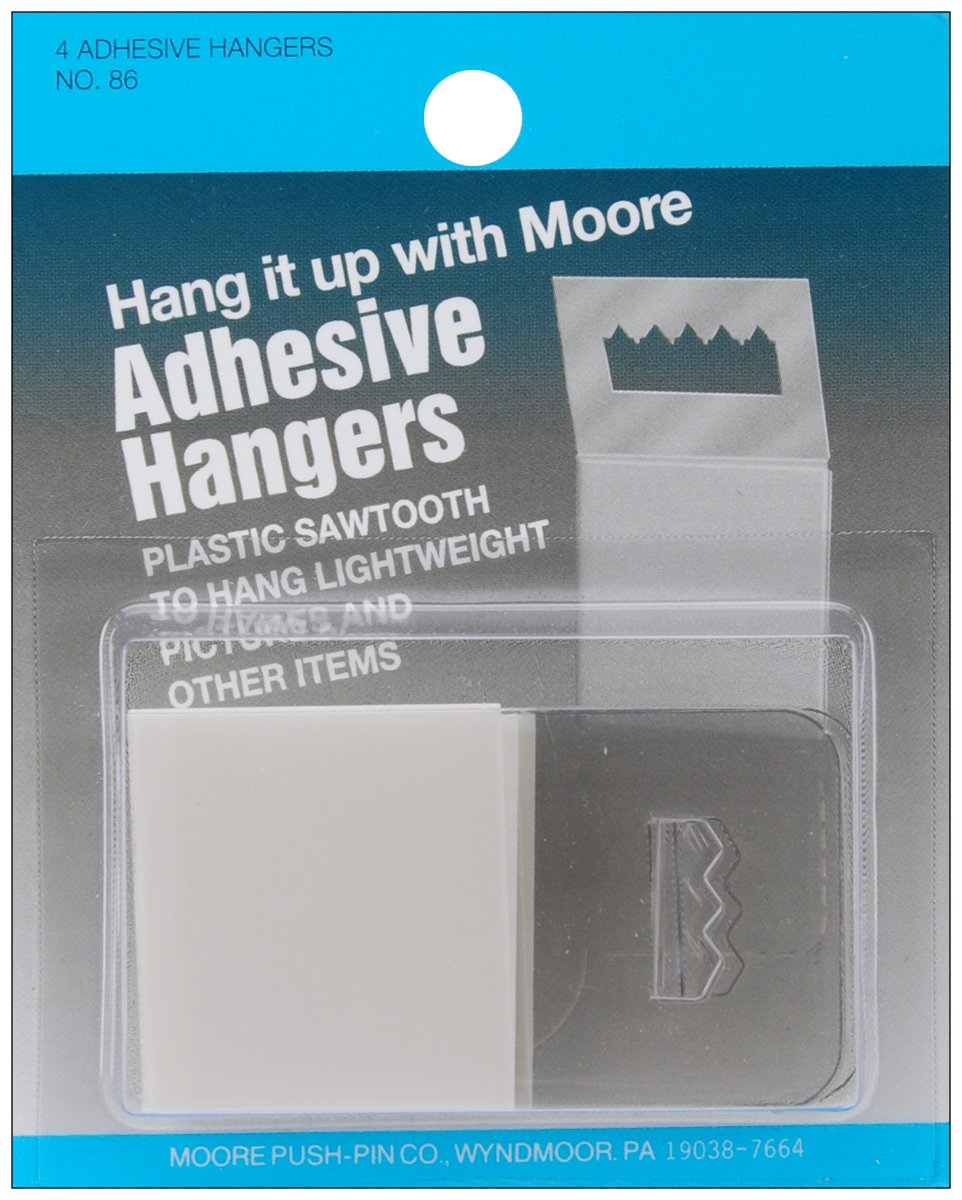 Amazoncom Moore Push Pin Adhesive Hangers Plastic Sawtooth 4 Pack