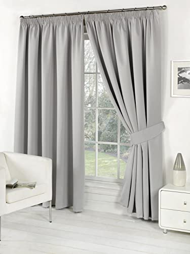 Pair Of Silver Grey 66 Quot Width X 108 Quot Drop Supersoft