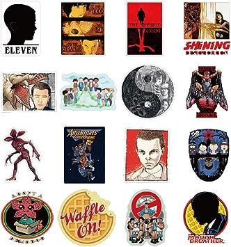 TZ-D075 Pegatinas de Stranger Things 3 PVC Graffiti Pegatinas Stranger Things Graffiti Stickers Ni/ña y Ni/ños Interesante Calcoman/ías para Laptop KIACIYA Pegatinas de Stranger Things
