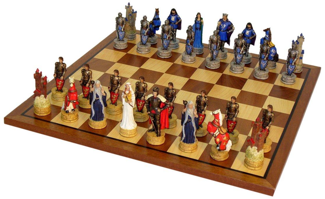 Juego de ajedrez King Arthur Sapele Maple
